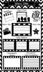 Main Idea Graphic Organizers with Movie Star Theme