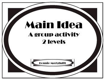 Main Idea: Group Activities