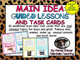 Main Idea Guided Lessons and Task Cards