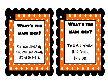 Main Idea-Halloween Edition