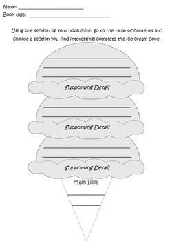 Main Idea Ice Cream Cone