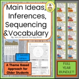 Main Idea,Inferences,Sequencing & Vocabulary Middle School Speech Therapy Bundle