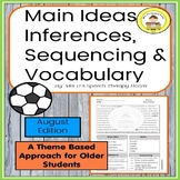 Main Idea, Inferences,Sequencing & Vocabulary in Middle Sc