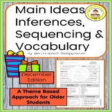 Main Idea, Inferences, Sequencing & Vocabulary in Middle School Speech Therapy 4