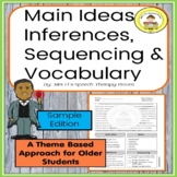 Main Idea, Inferences, Sequencing & Vocabulary in Middle S