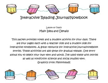 Main Idea Interactive Journal
