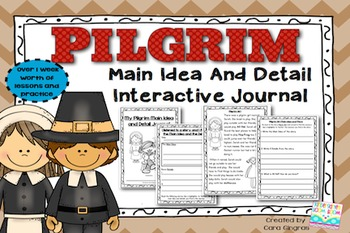 Main Idea {Interactive Journal} Pilgrims