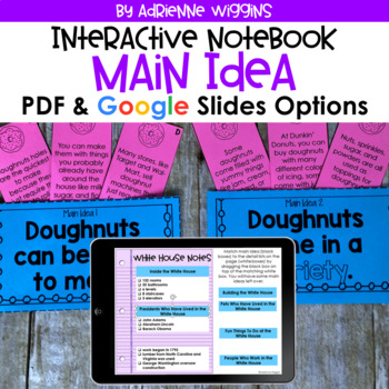Main Idea Interactive Notebook & Mystery Bags