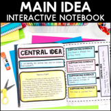 Main Idea - Reading Interactive Notebook | Distance Learning