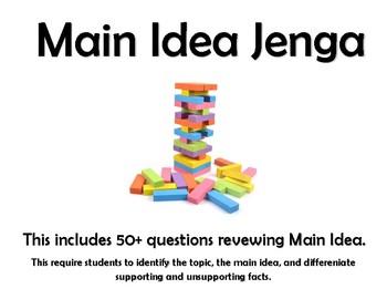 Main Idea Review (Jenga)
