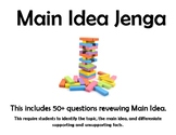 Main Idea Review (Jenga)