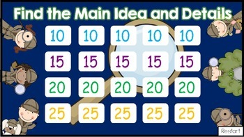 Main Idea Jeopardy-Style Game Show (Highlighting Details)