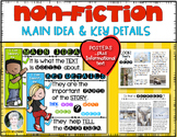 Main Idea & Key Details {Posters & Informational Text} for First & Kindergarten