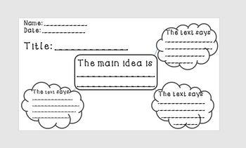 Main Idea & Key Details Graphic Organizer