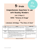 Main Idea & Key Details Mcgraw Hill Reading Wonders RWW U3W3