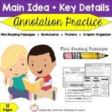 Main Idea & Key Details Mini Passage Practice