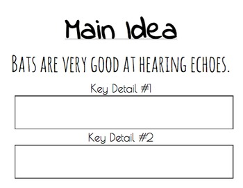 Main Idea & Key Details Sorting Activity