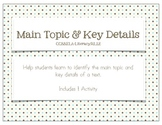 Main Idea & Key Details