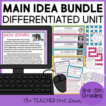 Main Idea | Main Idea Activities | Main Idea Games