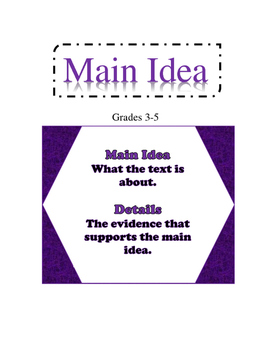 Main Idea Lesson