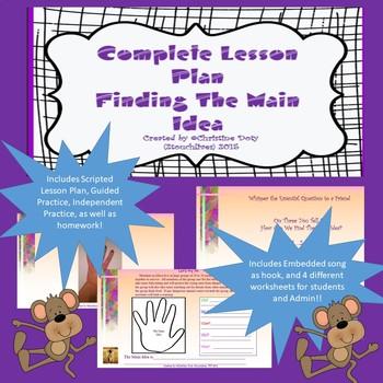 Main Idea Lesson Plan