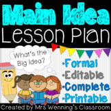 Main Idea Lesson Plan with Activities & Assessment!