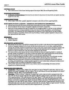 Main Idea Lesson Plan (Composing Text)