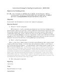 Main Idea Lesson Plan - Reading Comprehension Instructional Strategy