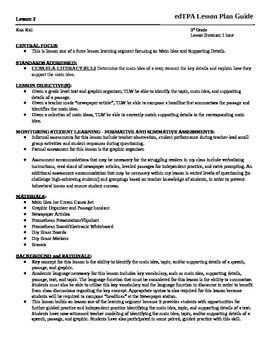 Main Idea Lesson Plan (Stations)