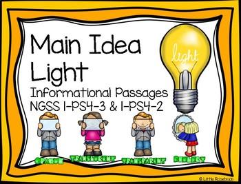 Main Idea Light 1-PS4-3 1-PS4-2 ~ Leveled