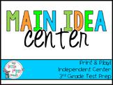 Main Idea Literacy Center {TEKS aligned} 3rd Grade