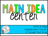Main Idea Literacy Center {TEKS aligned} 3rd Grade