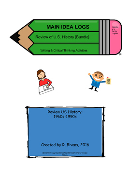 Main Idea Logs - US History Review [Bundle]