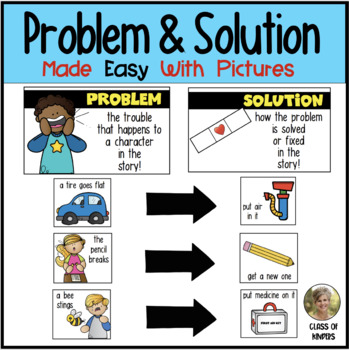 Problem & Solution {Made Easy with Pictures}  Kindergarten & First Grade Reading