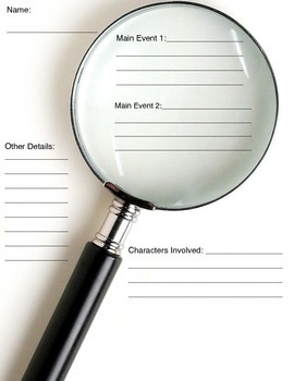 Main Idea Magnifying Glass Organizer