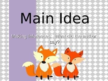 Main Idea:  Making Inferences