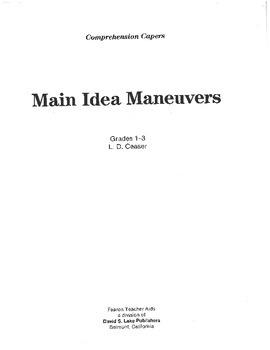 Main Idea Maneuvers