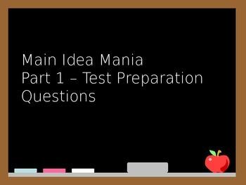 Main Idea Mania