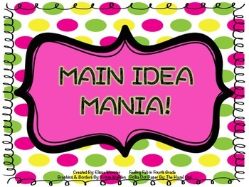 Main Idea Mania- Slideshow!