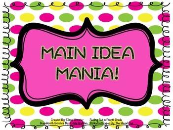 Main Idea Mania- Slideshow!
