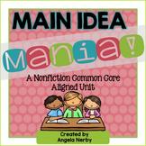Main Idea Mania! {A CCSS Aligned ELA Unit}