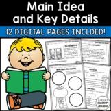 Main Idea & Key Details Activities- DIGITAL & PRINTABLE - DISTANCE LEARNING