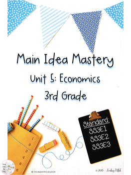 Main Idea Mastery: Economics for 3rd Grade