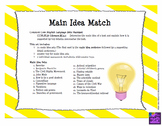 Main Idea Match & Worksheets