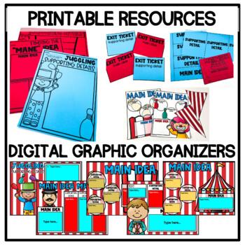 Main Idea Activities, Craftivities, and No Prep Printables