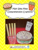 Main Idea Meal Reading Comprehension Craftivity