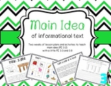 Main Idea Unit: Teaching Main Idea (RI 3.2) With Interactive Activities