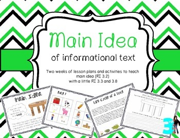 Main Idea Unit: Teaching Main Idea (RI 3.2) With Interacti