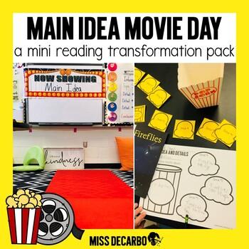 Main Idea Movie Day: Reading Transformation Pack