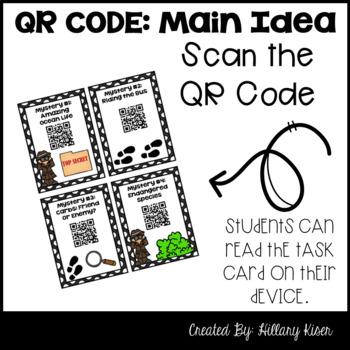Main Idea Mysteries (QR Code Activity: 3rd and 4th Grade)
